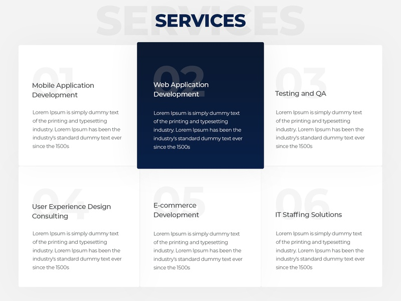 Services design thinking dograsweblog ui inspiration ui element service page services user interface daily ui challenge daily challange daily ui