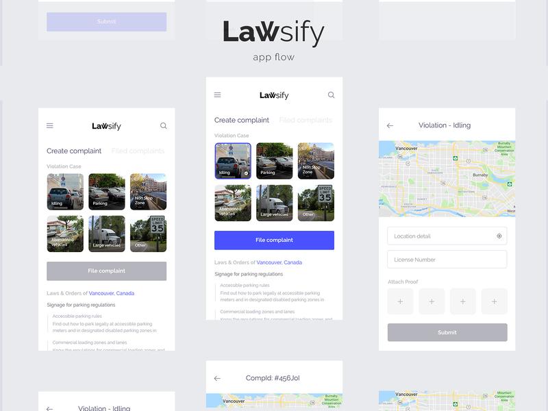 Lawsify Application UI dograsweblog lawsify law user experience user interface application ui
