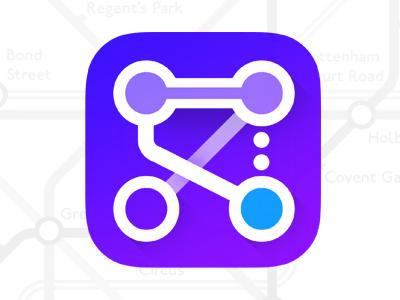 Underground IOS Icon flat vibrant minimalistic logo android tube icon iphone ios metro underground