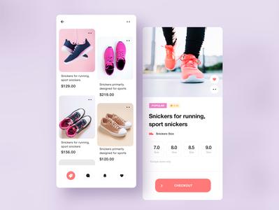 App UI Design. shot mobile app mobile iphone dribbble vibrant minimalistic flat design clean best adidas nike app ui sport sneakers shoes app designer app design 3d