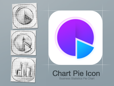 Chart Pie Icon design. ipad money tracker jobs 3d 2d 2d art ui gui business chart chart pie vibrant minimalistic flat iphone iphone icon ios icom icon