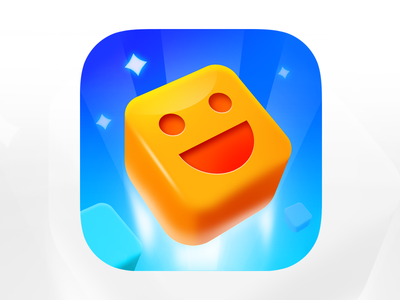 Iphone Game Icon design. colorfull cube game game art icon design app icon ios icon vibrant 3d cube .game art game design iphone icon logo minimalistic big sur ios flat icon iphone