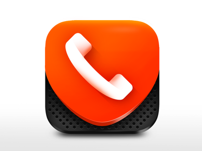 3D iOS Icon Design photoshop 3d gui ui design app design ui vibrant phone call recorder call master call blocker call iphone icon ios icon app icon icon design 3d icon