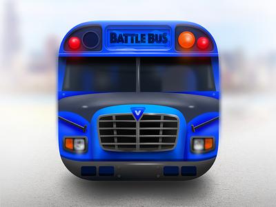 Fortnite BattleBus IOS Icon fortnite fortnite logo design 3d game game icon ui app car vehicle 3d icon iphone icon ios icon blue bus bus battlebus