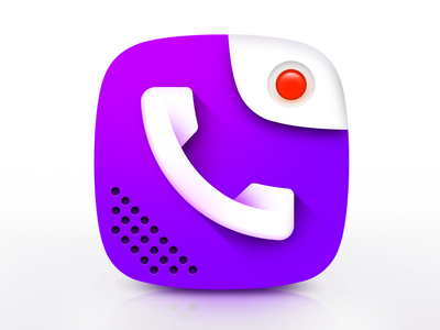 Call Recorder App Icon creative design app game ui illustrator photoshop app icon viber vibrant 3d icon playgoogle icon design phone icon icon phone recorder callrecorder call