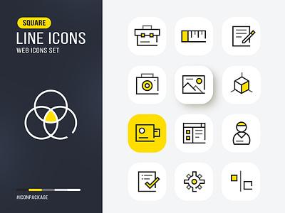 Vectors Line icons design todo camera task playgoogle web app game movie illustrator photoshop vibrant flat icon web icons vector icons vector icon design line icons icon design creative