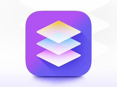 Photo editing app icon based on masking. logo design ui illustrator photoshop mask photo photo editing vibrant illustration iphone icon ios icon flat ios icon iphone
