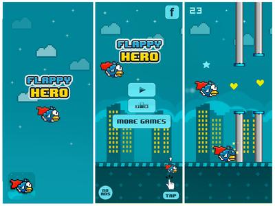Superman Flappy Bird Reskin