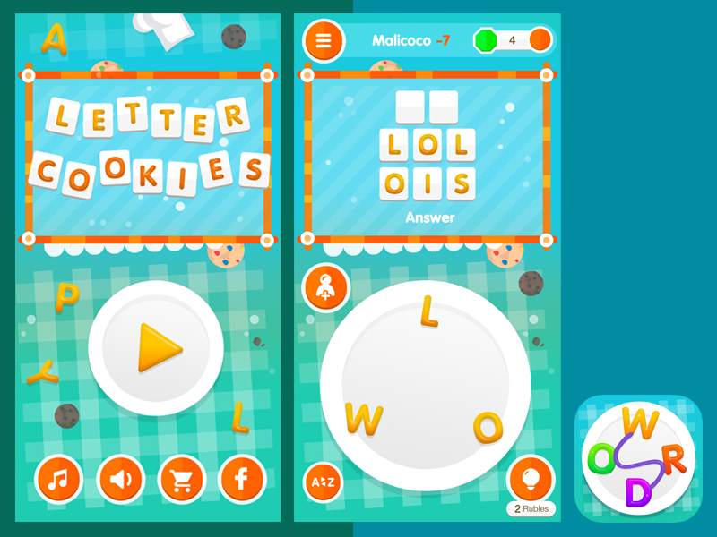 Flat iPhone Game Design