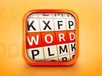 3D Word IOS Icon