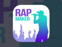 Flat Rap Maker IOS Icon