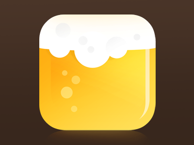 Beer Flat IOS Icon icon icon artwork alcohol game gui ui android beer icon iphone icon ios icon drink beer