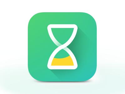Time Tracker App Icon hourglass tracker time minimalistic flat gui ui icon artwork icon design icon iphone icon ios icon