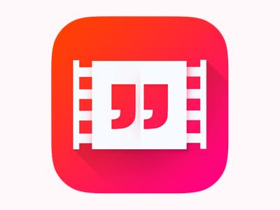 Movie Quote IOS Icon quote cinema minimalistic vibrant flat ui movie movie quote ios icon iphone icon