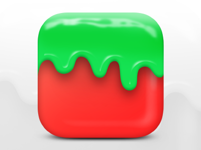 IOS Icon Design 3d ui fruit strawberry ios icon icon iphone ios red green