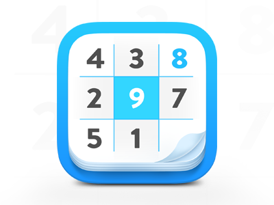 Sudoku IOS Icon numbers apps game ios 3d ui iphone android icon iphone icon icon sudoku