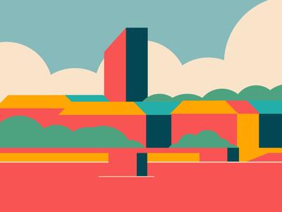 Lyon - France sky color cloud building city france lyon