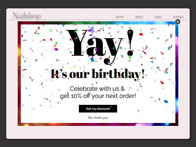 Daily UI 016 - pop-up/overlay overlay pop-up popup ui dailyui016 dailyuichallenge
