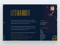 umi.io - Speaking Page