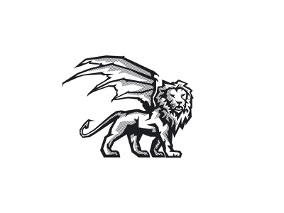 Manticore_02 branding illustration vector ve lion logo manticore