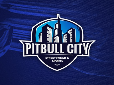 Logo Pitbull City pitbull design logo