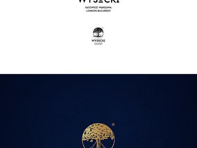 Kliniki Wysocki branding medical black white design logo