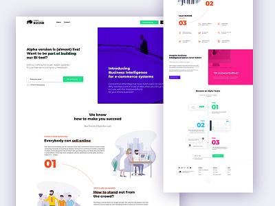 Bizone - business intelligence onepage page web guide e-commerce design intelligence business branding brand bison bi