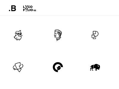 Logofolio 02 black branding logo design design collection mark brand logotype logo logofolio