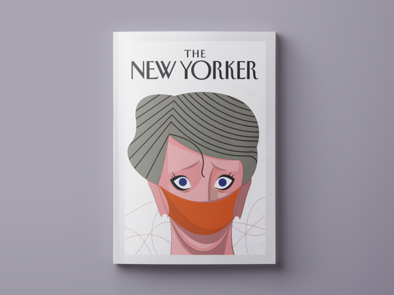 The New Yorker Magazine illustration lineart magazine illustration magazine cover