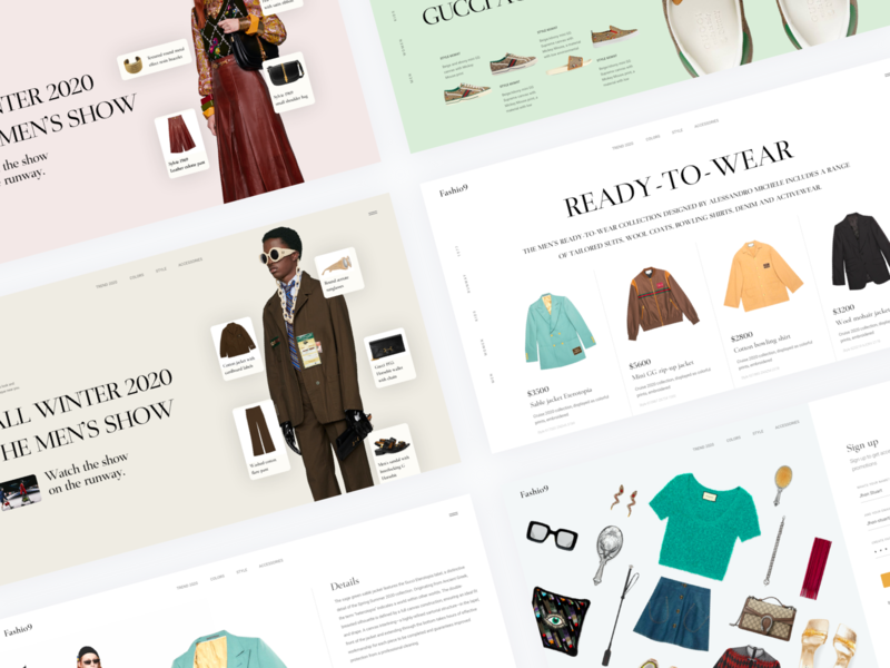 Fashion Nine - Clothing Online Store gucci ecommerce design ecommerce app ecommerce clothing webdesign website concept website design website fashion web fashion brand fashion website fashion