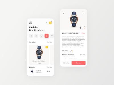 Ecommerce App iphone app ecommerce app watches app design