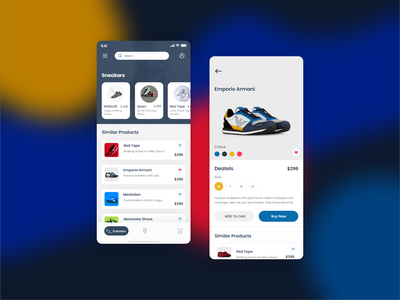 Sneakers E-commerce App cliffex android design ui ui desgin