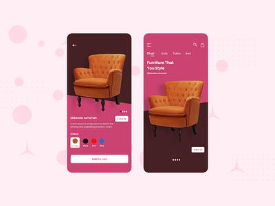 Furni - The Furniture App ux ui modern app design android apple ios cliffex furniture app