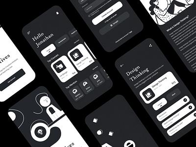 E-learning App - Design Courses editorial 3d course design courses courses development graphic design app ios branding illustration e-learning app