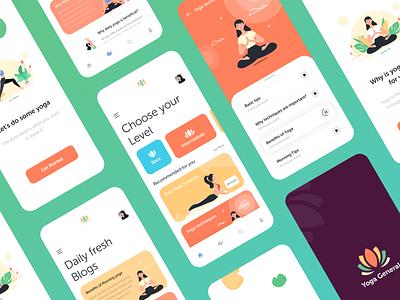 Yoga App UI ios app design illustration design ux ui uidesign android app app yoga app