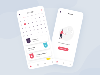 Events and Tasks App UI app android ios design ux uiux ui tasks app events app