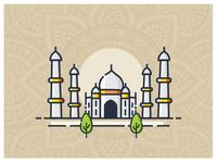 Wonders - Illustration Taj Mahal