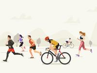 Athletics Illustration