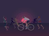 Dusk - Athletics Illustration