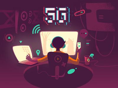 5G Concept Illustration design internet user vector illustration concept 5g