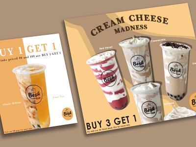 MilkTea Poster branding illustration design poster milktea