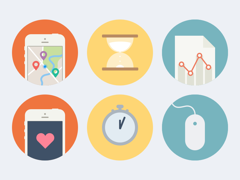 Big Flat Icons (.sketch) icons sketch free time analytics big mouse hourglass location like flat
