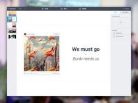 Bunkr - presentation editor