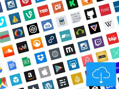 Major websites Icon Set - Free Sketch