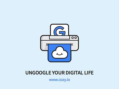 Cozy - Ungoogle your Digital Life cloud print outline simple google icon