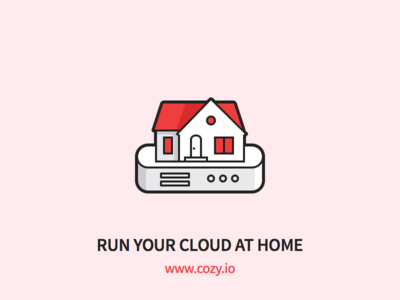 Cozy - Run your Could at Home server house home cloud outline icons