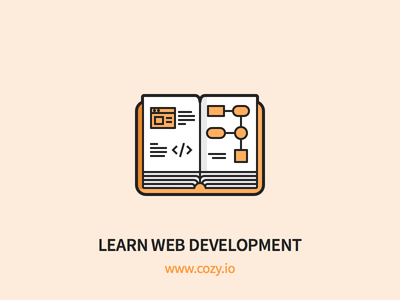 Cozy - Learn Web Development student js development learn book outline icons