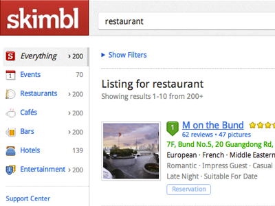 sidebar + listing results website lbs listing results icons