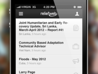 app homepage for reliefweb