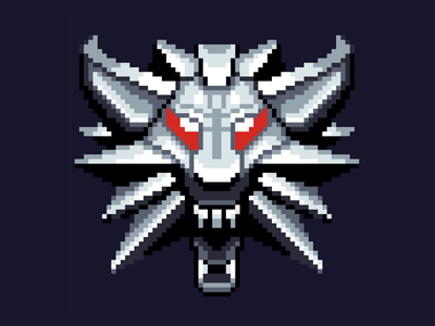 Witcher Emblem pixel-art pixelart geralt witcher3 witcher thewitcher